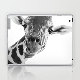 Giraffe Portrait // Grey Wild Animal Cute Zoo Safari Madagascar Wildlife Nursery Decor Ideas Laptop & iPad Skin