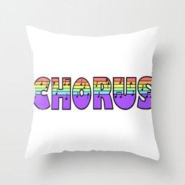 Pastel Chorus Throw Pillow