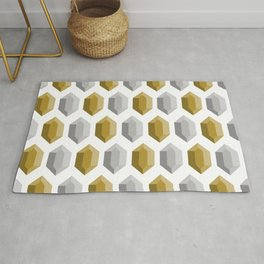 These Aren't Rupees! - Gold & Silver White Rug
