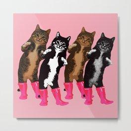 Dance Dance Cat Cat Metal Print