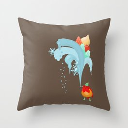Christmas and New year 2017 Throw Pillow