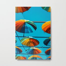 Color umbrellas Metal Print