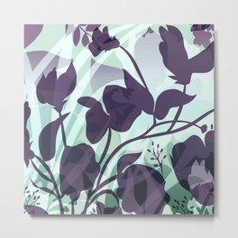 Sassy Sedge - cool colors Metal Print