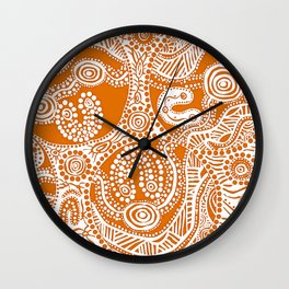Bloodlines - Burnt Country Wall Clock
