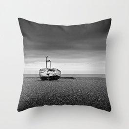 Aldeburgh Beach, Suffolk Throw Pillow