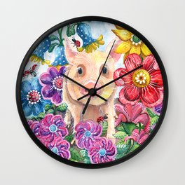 Penelope Pig Wall Clock