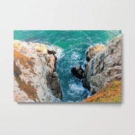 Ocean falaise 5 Metal Print