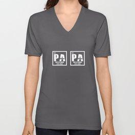 Papa Protactinium Funny Chemistry Unisex V-Neck