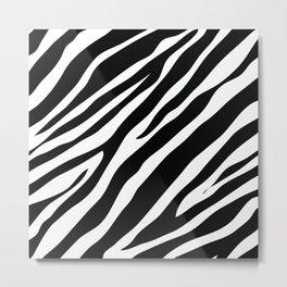 Black and White Zebra Art Metal Print