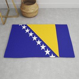 Flag of Bosnia – Bosnian,Bosniak,herzegovinian,bosna,Sarajevo,Balkan,yugoslavia. Rug
