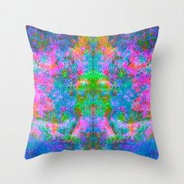 Kamana II (Ultraviolet) (abstract, psychedelic, psyart) Throw Pillow
