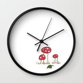 Fall Shrooms Wall Clock