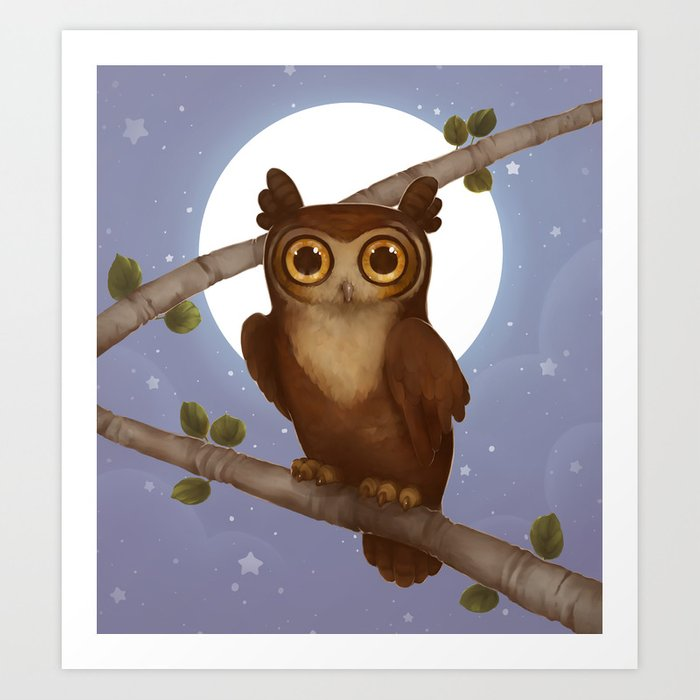 Gallant Great Horned Owl Art Print