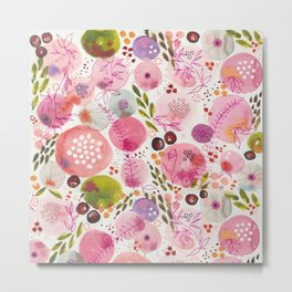 Pink Bubble for a Happy Spring Metal Print