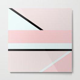 Blush Pink Geometric Metal Print
