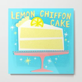 All American Classic Lemon Chiffon Cake Metal Print