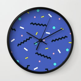 Memphis pattern 57 Wall Clock