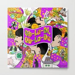 Ob-La-Di, Ob-La Da (Purple and Yellow) Metal Print