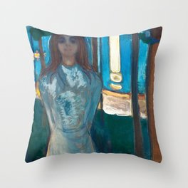 The Voice, Summer Night by Edvard Munch Throw Pillow