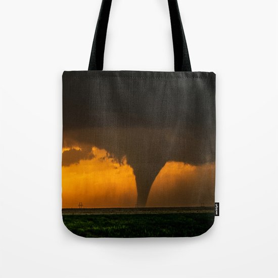 Silhouette - Large Tornado at Sunset in Kansas by seanramsey