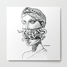 Greek Renaissance Octopus Metal Print
