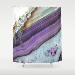 Purple Agate Slice Shower Curtain