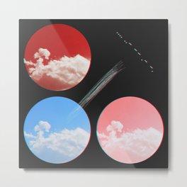mirrored skies Metal Print