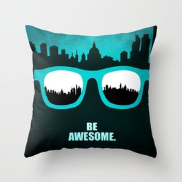 Lab no. 4 - Be Awesome Business Inspirational Corporate Startup Quotes poster Throw Pillow