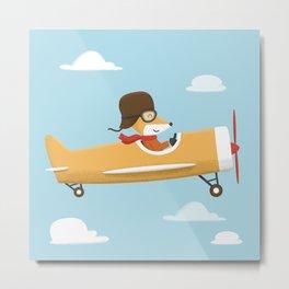 Mr. Fox is Flying Metal Print