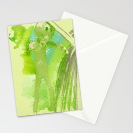green Manikin Stationery Cards
