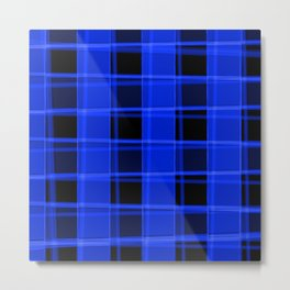 Bright intersections of light and nautical lines on a dark background. Metal Print