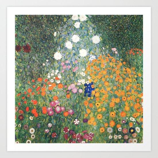Gustav Klimt Flower Garden by colorfuldesigns