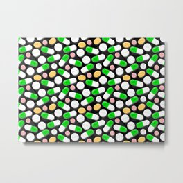 Deadly Pills Pattern Metal Print