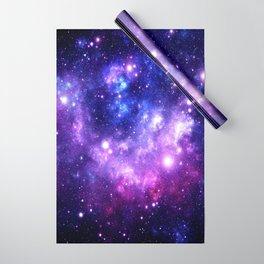 Purple Blue Galaxy Nebula Wrapping Paper