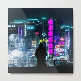 Cyber City Metal Print