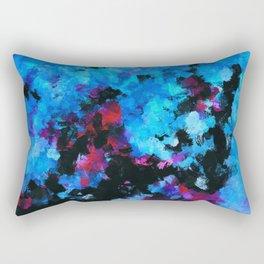 Teal (Blue) Abstract Acrylic Painting Rectangular Pillow