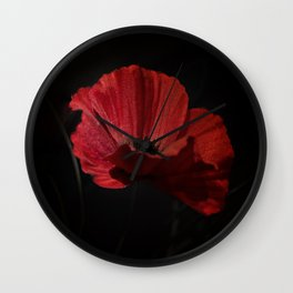 Remembrance poppy 1 Wall Clock