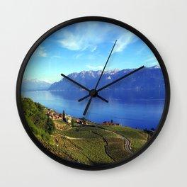 Lake Geneva Landscape  Wall Clock