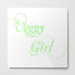 veggy girl, vegetarian, vegan Metal Print