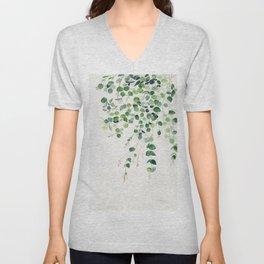 Eucalyptus Watercolor Unisex V-Neck