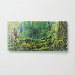 Mushroom Forest Floor Metal Print