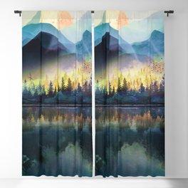 Mountain Lake Under Sunrise Blackout Curtain