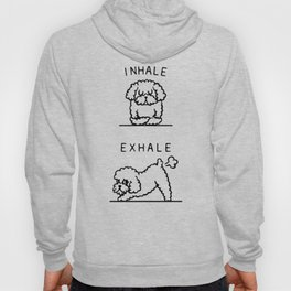 Inhale Exhale Toy Poodle Hoody