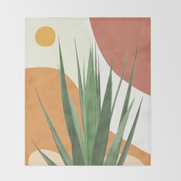 Abstract Agave Plant Throw Blanket