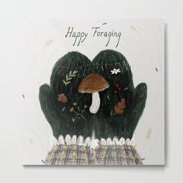 Happy Foraging Metal Print