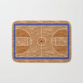 Wooden Basketball Court Bath Mat