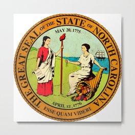 North Carolina seal vintage Metal Print