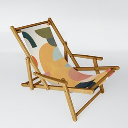 Modern Abstract Art 70 Sling Chair