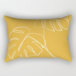 Monstera minimal - yellow Rectangular Pillow
