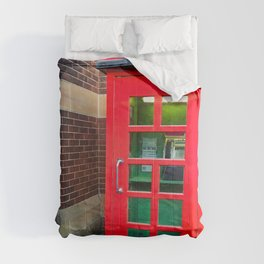 Red Phone Booth Comforters